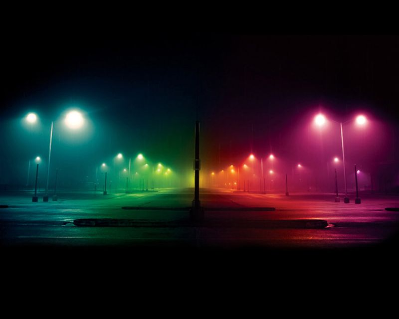 City - Two Color Street Light