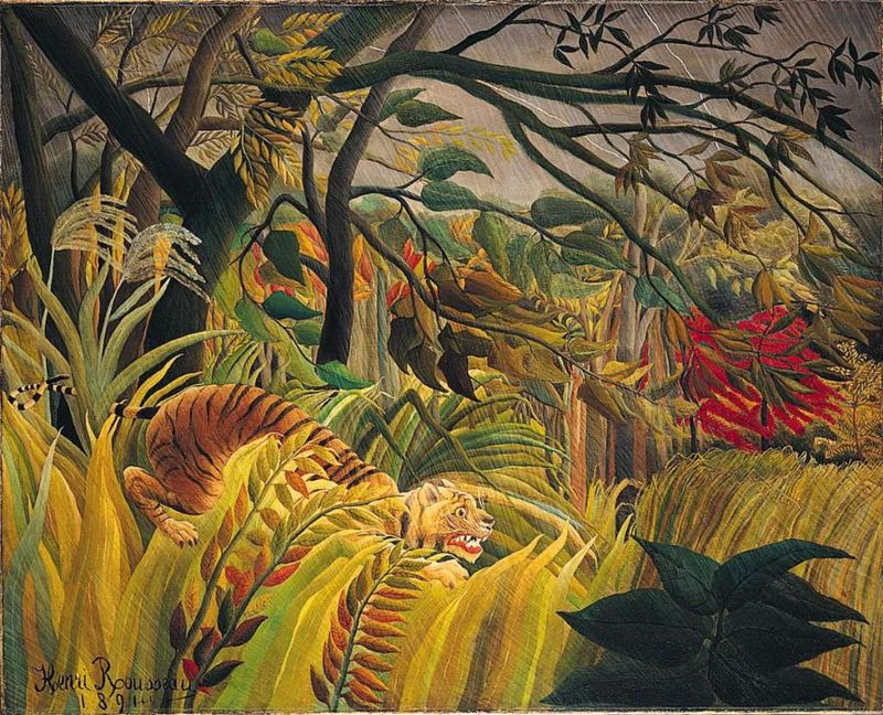 London National Gallery Top 20 18 Henri Rousseau - Tiger In A Tropical Storm