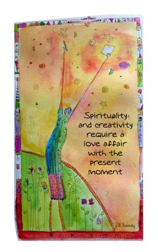 Spirituality and creativity love affair