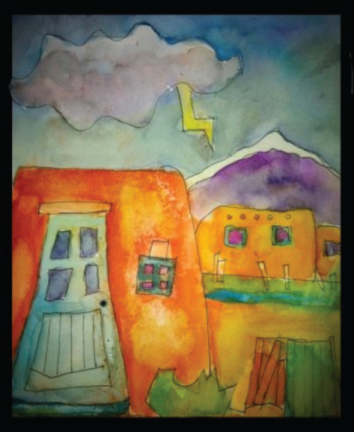 Taos upside down painting