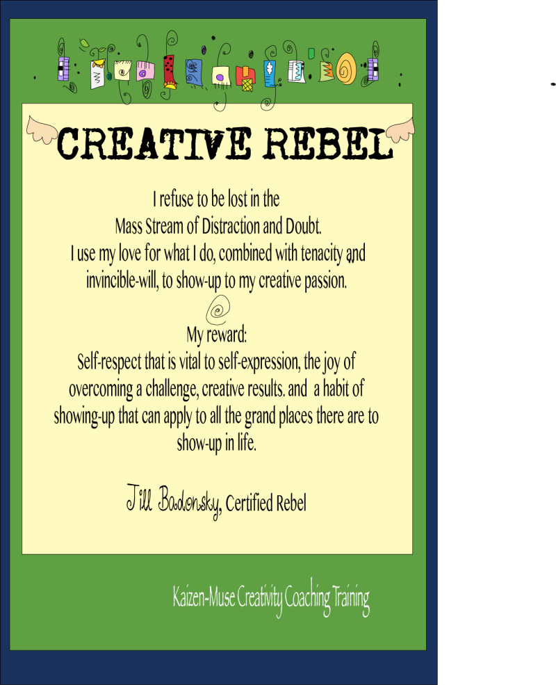 Creative rebel card