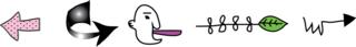 Pointer arrows in a row