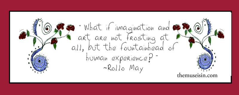 What if imagination isn't just the icing Rollo May