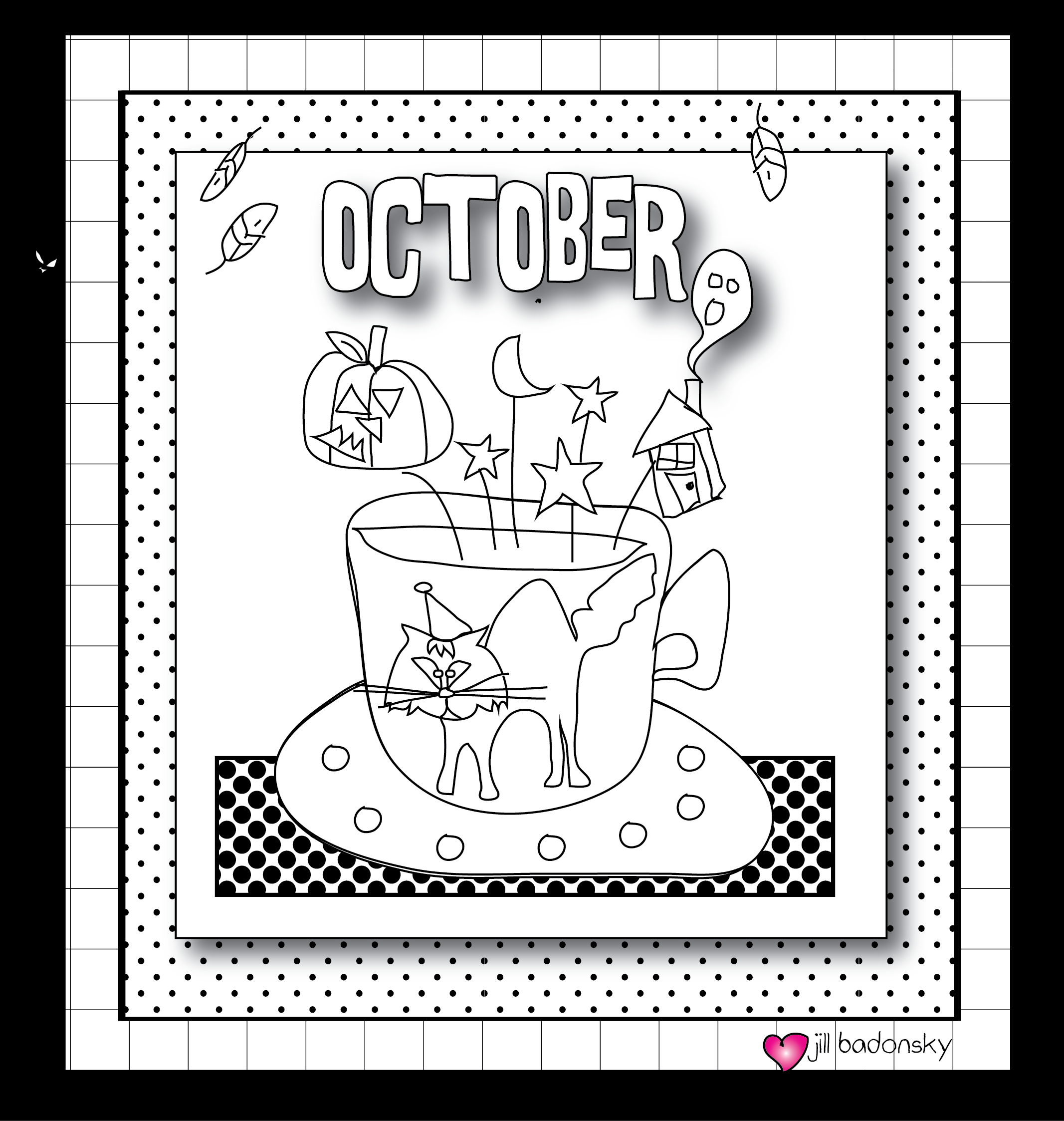The Awe-manac: A Daily Dose of Wonder: October Coloring for Sanity