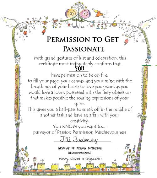 Passion permission slip