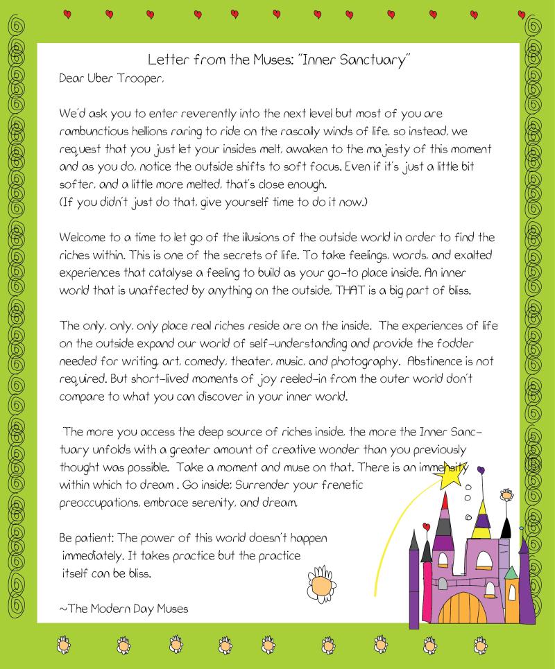 Inner sanctuary letter