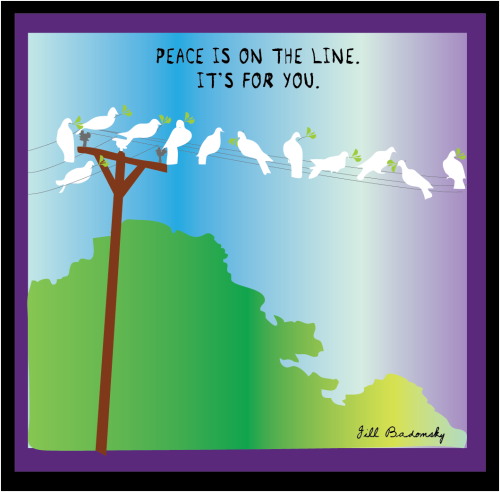Peace on a wire