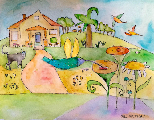 Cat hummingbird home