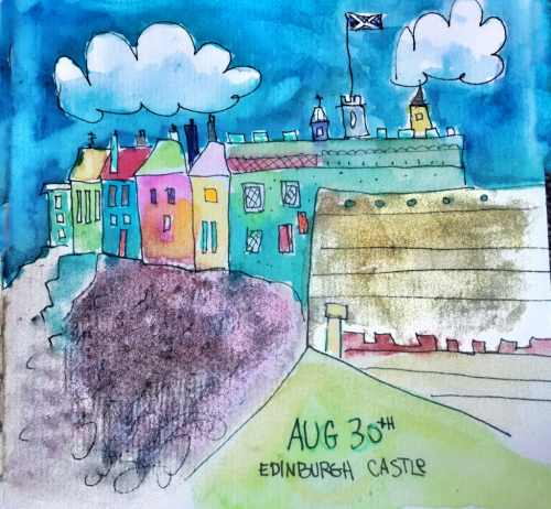 Edinburgh castle sketch-121
